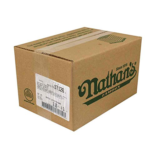 Nathans Famous 5/1 Skinless Beef Frank, 7 inch -- 50 per case.