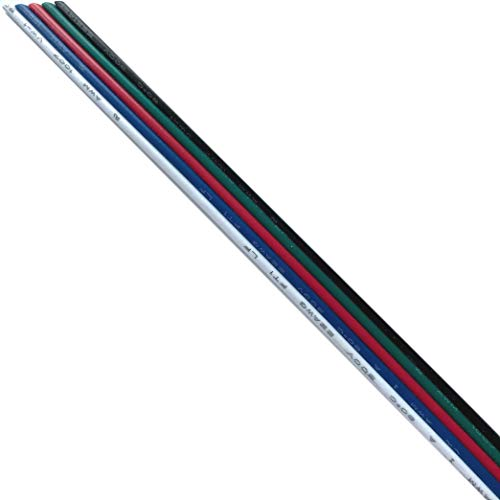 LIGHTEU®, RGBW Câble d'extension pour RGBW LED Strip 5050 Ruban RGBW Cordon blanc chaud 5pin Wire (1m)