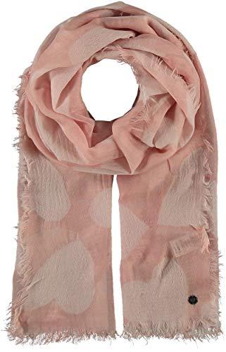 FRAAS - Toalla de lana con corazones para mujer, color rosa
