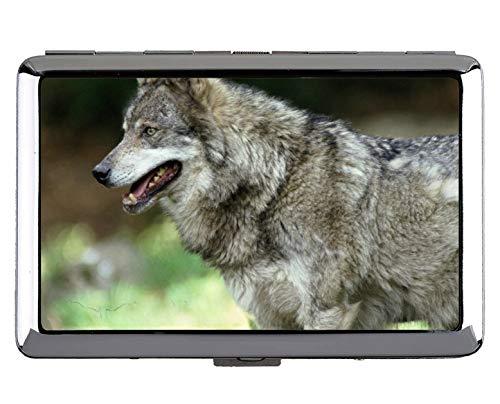 Zigarette Hard Box und Halter, Tier Wolf Universität Schutz Kredit Visitenkarte Inhaber Fall