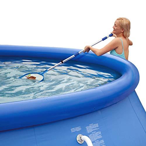 Summer Escapes zwembadreinigingsset met schepnetstofzuiger telescoopstang