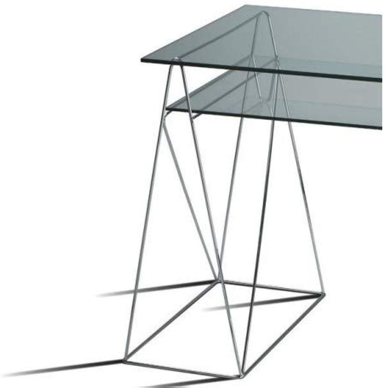 DESKandSIT Metallbock für Tische Tische-Studie mca122001-lote 2 Chrom