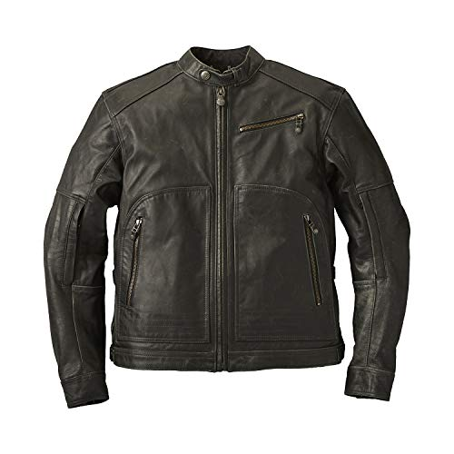 Indian Motorcycle Men's Leather Phoenix Riding Jacket with Removable Lining, Black - 2XL