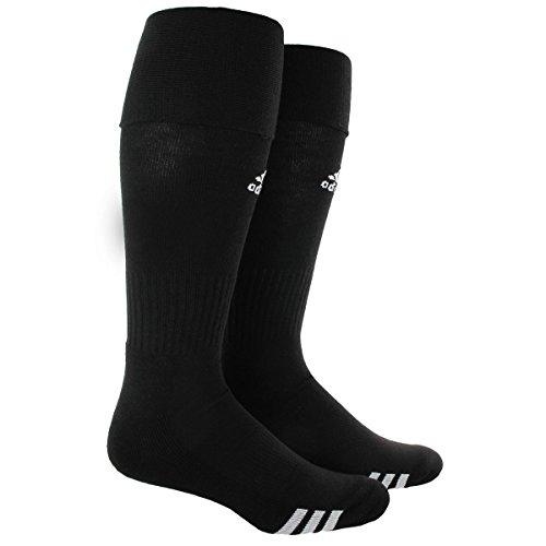 adidas Rivalry Soccer Socks (2-Pack), Black/White, X-Small
