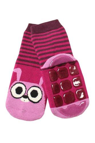 Weri Spezials Baby Voll-ABS Socke Hase Motiv in Beere Gr.19-22 (12-24 Monate)