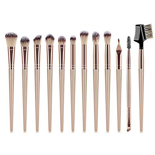 MEIYY Pinceau De Maquillage 12 Pcs Eye Beauty Tools Set Eyeliner/Ombre À Paupières/Sourcils/Cils Pinceaux De Maquillage Professionnels Crayons Doux Anti-Cernes Pour Maquillage