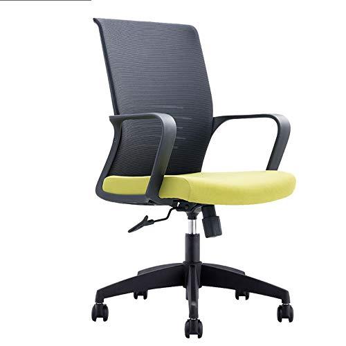 Exquisite Bürostuhl High Back Mesh Bürostuhl Ergonomischer Computerschreibtischstuhlhöhe einstellbar Komfortable Erfahrung (Farbe : Grün, Size : One Size)