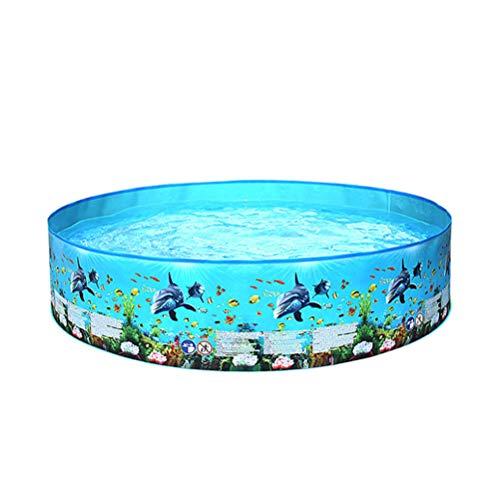 SEYE1° Mini Family Swimmingpool, Rundes Blaues Unterwasserwelt-Planschbecken Für Kinder, Jugendliche, Erwachsene, Die Im Garten Schwimmen Und Draußen Baden