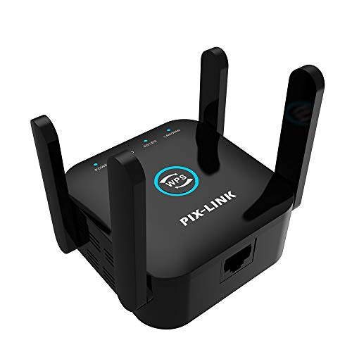 WiFi Range Extender Booster Repeater, Enjoy Gaming Movies,1200Mbps 2.4 & 5GHz Dual Band WPS Wireless Signal Strong Penetrability, Wide Range of Signals(2000FT)(Black)