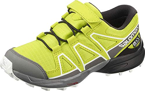 Salomon Kinder Trail Running Schuhe, SPEEDCROSS CSWP K, Farbe: grün (Evening Primrose/Quiet Shade/Black), Größe: EU 30