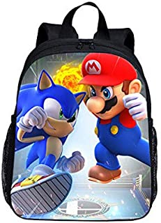 Super Mary - Mochila escolar de 33 cm, diseño de Super Mario Smash Bros
