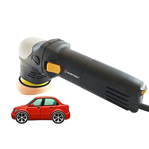 BrightFootBook Pulidora, Pulidora Pulidora De 5000 W, Pulidora De Doble Acción, 6 Velocidades Variables, para Pulir Y Lijar Coches, Muebles