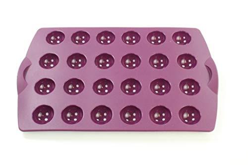 TUPPERWARE Silikonform Backen CakePops Mini Kugelchen lila Pralinen 32286