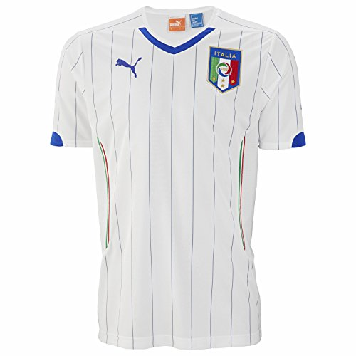 PUMA Trikot FIGC Italia Away Shirt Replica - Pantalones Cortos de fútbol para Hombre, Color Blanco, Talla XL