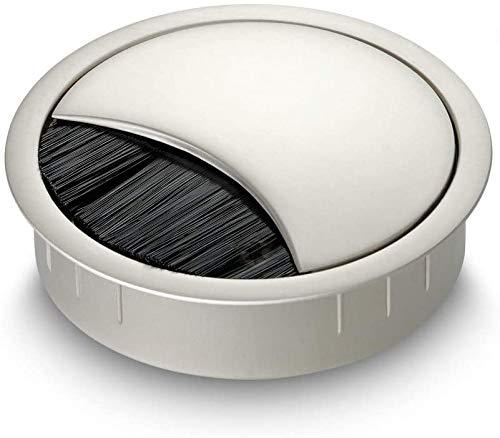 Powerdelux 1 x Zinklegierung Metall 75mm Kabeldurchführung Tisch-Kabelführung zum Eindrücken Kabeldurchführungen für Möbel Schreibtisch Computer Tisch