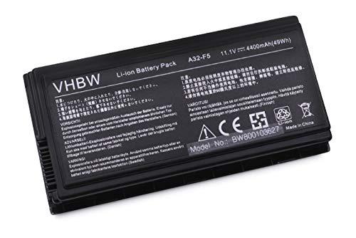 vhbw Batterie LI-ION 4400mAh 11.1V, Noir, pour ASUS F5, F5GL, F5M, F5N etc. remplace 70-NLF1B2000, 70-NLF1B2000Y, 70-NLF1B2000Z, 90-NLF1B2000Y etc.