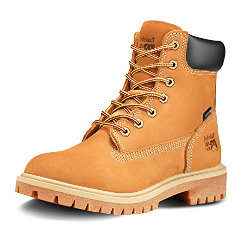 """Timberland PRO womens Direct Attach 6"""" Soft Toe Waterproof Industrial Boot, Wheat Nubuck Leather, 8.5 US"""