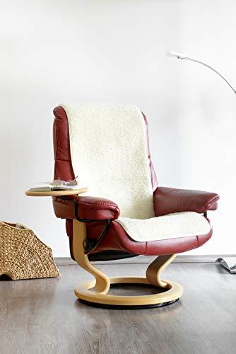 Schurwoll-Sessel- oder Sofaläufer, Natur, Flor aus 100% Schurwolle, Maße ca. 160 x 50 cm
