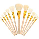 11Pcs Painting Brush Set Wool Watercolor Oil Paintbrush Round Tip Special Drawing Tools for Arts Adults Painting