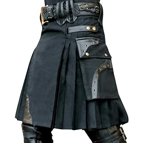 Neuf écossais hommes camouflage kilt avec sangles en cuir best fashion army utility kilt