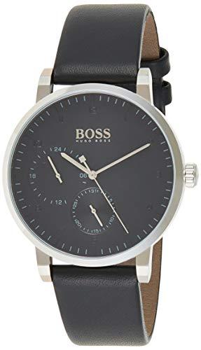 Hugo Boss Unisex Multi Zifferblatt Quarz Uhr mit Leder Armband 1513594