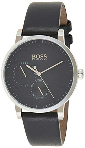 Hugo BOSS Reloj Multiesfera para Hombre de Cuarzo con Correa en Cuero 1513594