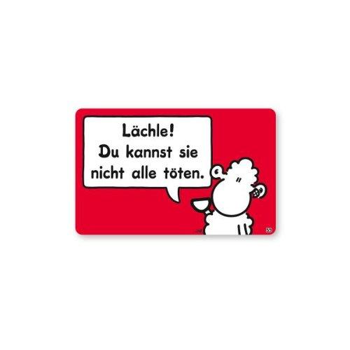 Sheepworld - 57212 - Pocketcard Nr. 59, Lächle! Du Kannst sie Nicht alle töten.