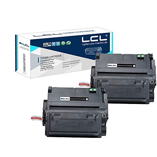 LCL Cartuchos de Tóner Compatible 42X Q5942X Q1331X High Yield (2Negro) Reemplazo para HP Laserjet 4250 4250n 4250tn 4250dtn 4250dtnsl 4350 4350n 4350tn 4350dtn 4350dtnsl 20000 Páginas