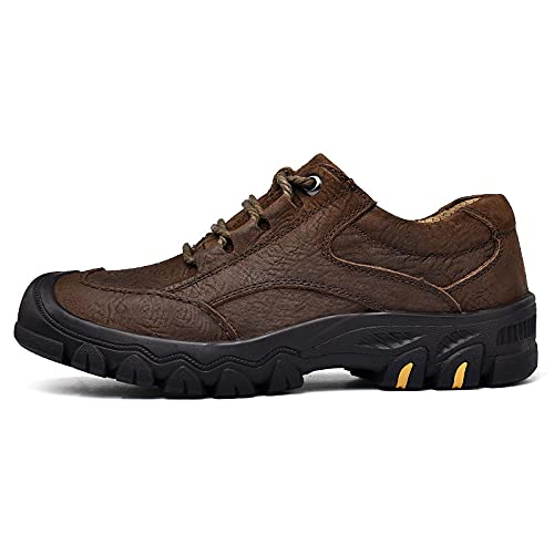 Aerlan Gym Shoes Lightweight Shoes,Zapatillas de montañismo, Deportes al Aire Libre, Calzado Casual de Senderismo-marrón_42,Botas de montaña Deportivas