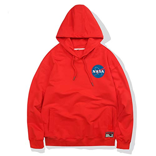 CBA BING NASA Font Logo Hooded Sweater Trui, Dunne Sectie, Unisex, met Pocket