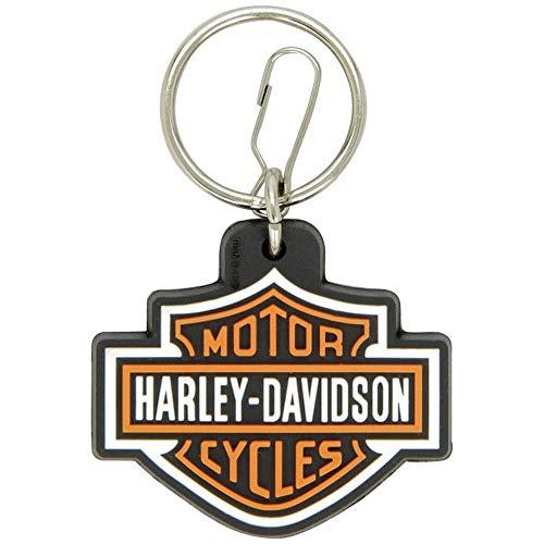 Portachiavi in gomma con logo Harley-Davidson