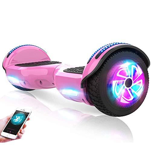WYSD 6,5'selbstausgleichende Elektroroller, 2 Räder selbstausgleichendes Hoverboard mit Bluetooth- und...