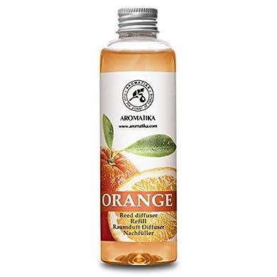 Foto di Diffusore Profumato per Ambiente di Arancio 200ml - Olio Essenziale Naturale Orange - Fragranza Naturale Intensa e Duratura - Senza Alcool - Profumo per Interni