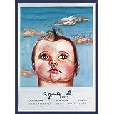 ポスター ダイアン シャネル Bebe Cruel (agnis b) 限定1000枚 額装品 ウッドベーシックフレーム(ブルー)