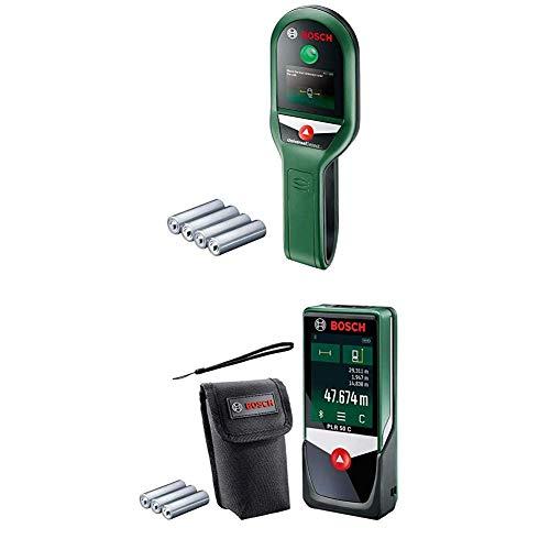 Bosch Ortungsgerät UniversalDetect mit Laser Entfernungsmesser PLR 50 C (4x 1,5 V Batterien, im Karton)