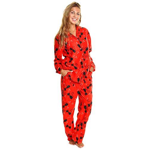 Red Cat Cozy Pajama Set