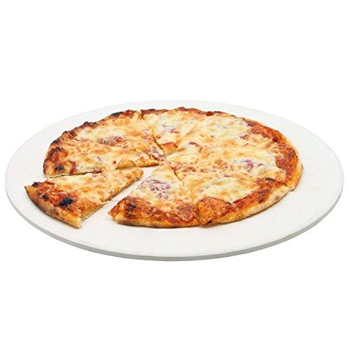 BBQ-Toro Pizzastein rund | Ø 38 cm Steinplatte für Pizza und Flammkuchen | Cordierit Stein für Grill, für Backofen, für Gasgrill