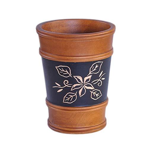 IAIZI Cubo de almacenamiento para el baño, cubeta de almacenamiento, papelera de desecho para el hogar, tamaño de 26 x 26 x 24 cm
