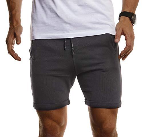 Leif Nelson korte broek voor heren, voor vrije tijd, sport, joggen, korte trainingsbroek, sportbroek, slim fit, mannen, korte joggingbroek, fitnessbroek, fitness-short voor training, broek, bodybuilding, LN8316