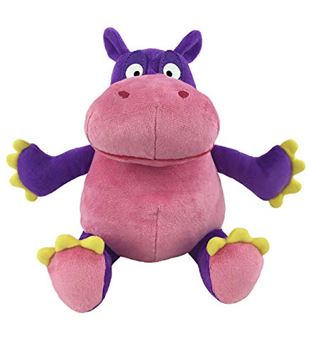 MerryMakers The Hiccupotamus Soft Plush Hippopotamus Stuffed Animal Toy, 9-Inch, from Aaron Zenz's The Hiccupotamus Book, Purple