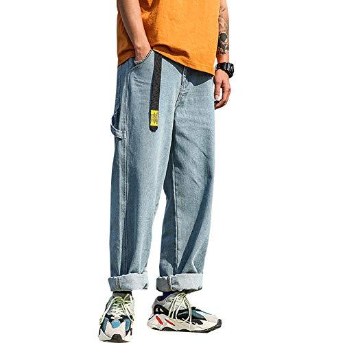 [ベラバント]デニムパンツ メンズ ロングパンツ ジーパン ストレート ズボン ワイドパンツ ゆったり おしゃれ