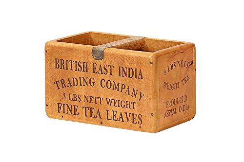 Hollyberry Home Medium Vintage Box-British East Indien feine Blätter, Holz, Mehrfarbig, 29x 19x 17cm