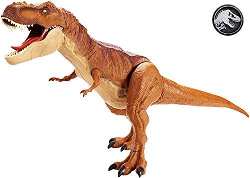 Mattel FMM63 - Jurassic World Dinosaurier Spielzeug Riesendino Tyrannosaurus Rex, riesiger T-Rex Dinosaurier, ca. 90 cm