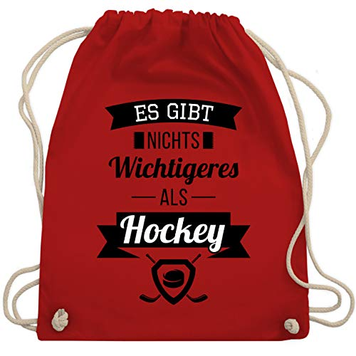 Shirtracer Eishockey - Es gibt nichts Wichtigeres als Hockey - Unisize - Rot - hockey rucksack - WM110 - Turnbeutel und Stoffbeutel aus Baumwolle
