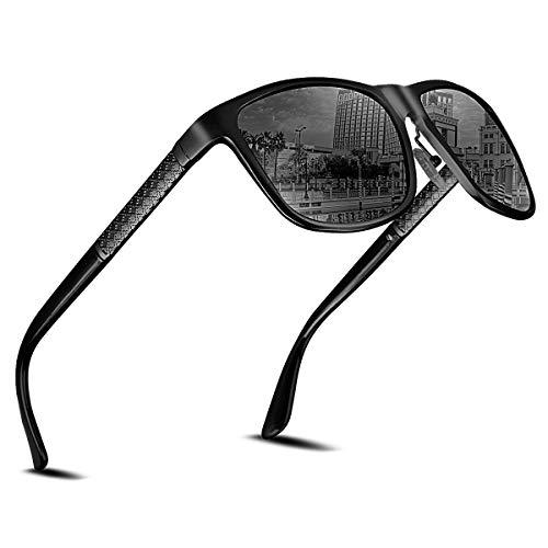CHEREEKI Gafas de Sol Hombre Polarizadas, Sunglasses Gafas de Sol Polarizadas, UV400 Protection Gafas de sol Deportivo Bastidor de Acetato Ideal para Conducir Pesca, Ciclismo y Correr