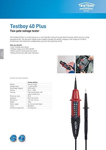 Testboy Testboy 40 Plus Spannungstester Testboy 40N, 6-400V, 8LED Anzeige - 5