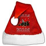 Santa Hat Meowy Christmas Cat Ugly Christmas Christmas Hat Velvet for Unisex Adults Kids Plush Xmas Santa Hats