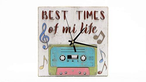 Reloj de madera,best times of mi life.