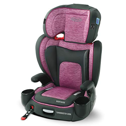 Graco TurboBooster Grow High Back Booster Seat Featuring RightGuide Seat Belt Trainer Joslyn