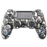 QLOVE Mando PS4, Inalambrico Mando para PS4 - Gamepad para PS4/ PS4 Pro/ PS4 Slim/PC/Laptop,Skull
